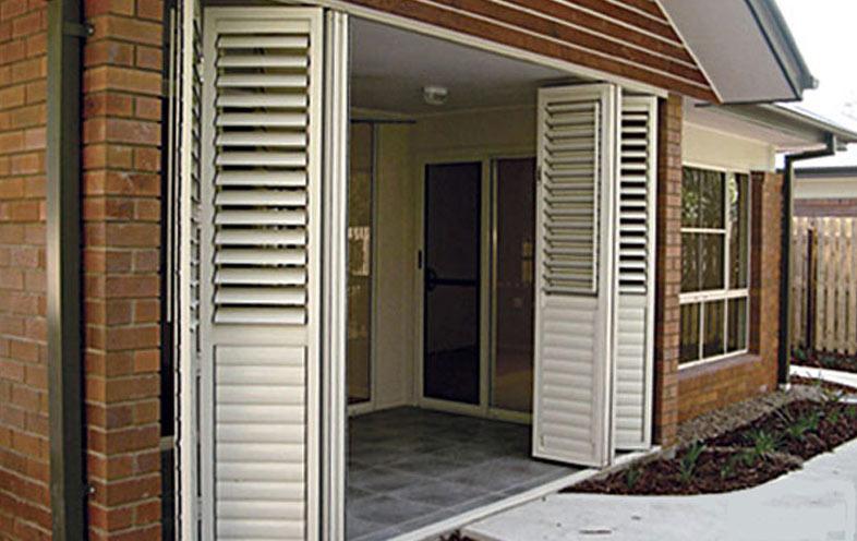 hinged aluminium shutters