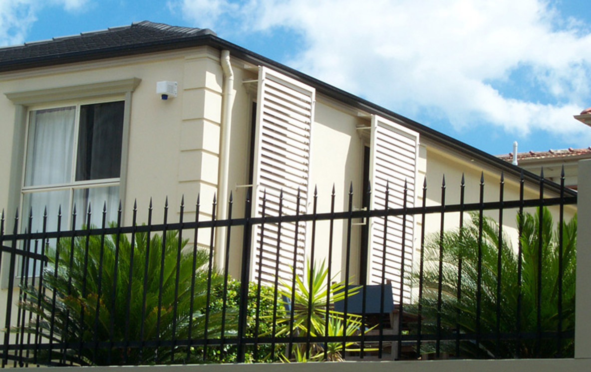 bifold fixed outdoor shutters